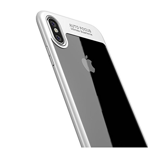 iPhone X Hülle, [Ultra Hybrid] Cover [Schwarz] inkl. Panzerglas Handyhülle TPU Bumper Tasche Panzerfolie Acryl Schutzhülle für iPhone X Case Cover [Black] Weiss
