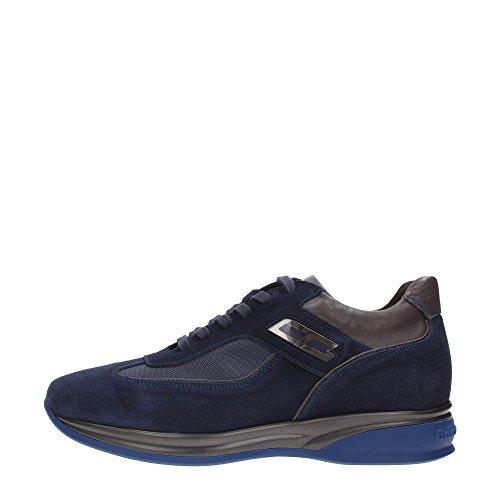 Cristiano Gualtieri 536 AI16 Sneakers Uomo Scamosciato Blu - Grigio Blu - Grigio 42