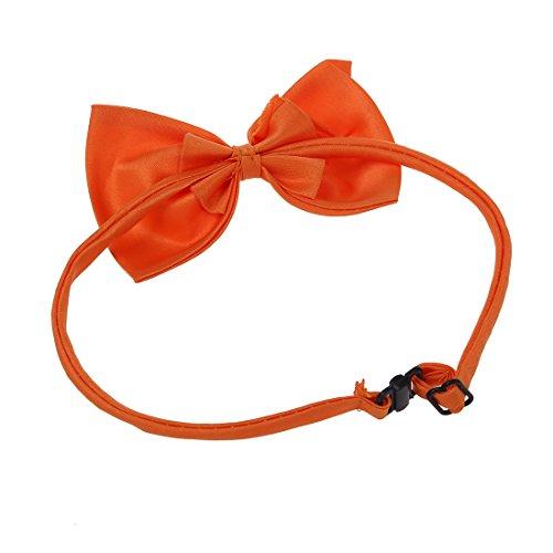 SODIAL (R) Hunde Katzen Haustier Fliege krawatte Halsschmuck Halsband Hundefliege Hundekrawatte dog Pet tie Necktie orange - 4