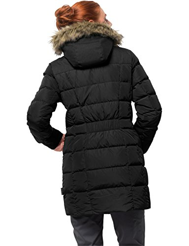 Jack Wolfskin Damen Baffin Island Coat Daunenmantel Winddicht Atmungsaktiv Mantel, Black, L - 2
