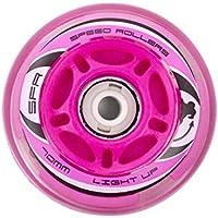 SFR Skates Light Up Ruedas, Unisex Adulto, Rosa, 72 mm