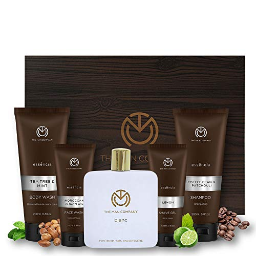 The Man Company Men's Grooming Kit (Blanc Perfume EDT, Moroccan Argan Oil...