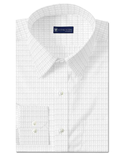 Vitruvien Men's Checkered Formal shirt in Egyptian Giza Cotton