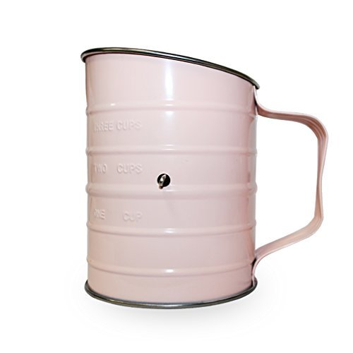 ibeet 3-Cup cottura Farina Zucchero a velo setaccio, in acciaio