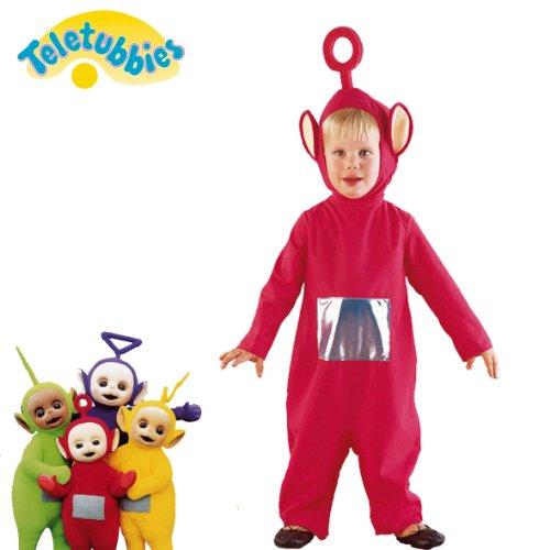 Takestop® costume teletubbies cartone animato travestimento carnevale bambino bambina unisex festa party gioco (rosso 5-7 anni)