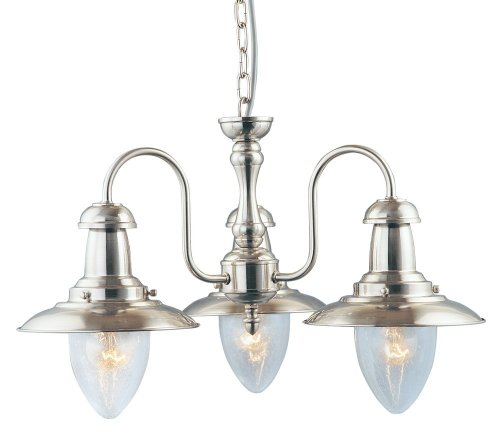 Searchlight Fisherman 5333-3SS 2 Traditional Pendant - Ss Center