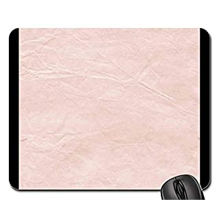 Rectangle Non-Slip Rubber Mouse Pad(9.45x7.8x0.12 Inches) Paper Texture Background Pink Textured Paper Old