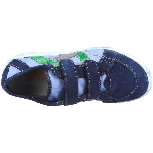 Wyzz Skater Velcro 2004873 Unisex - Kinder Halbschuhe Blau, (BLU-JEANS)