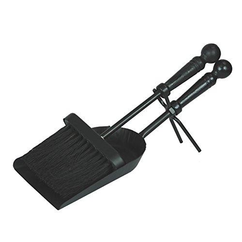 Simpa® 34cm (33cm) homely hearths contemporanea 2pezzi set companion tradizionale camino stufe a legna carbone set accessori–nero