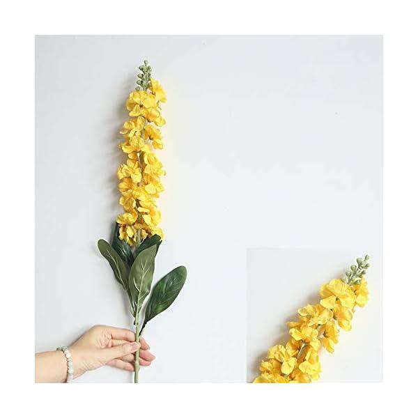 Bureze Ramo de Flores Artificiales de gladiolos de Seda para decoración del hogar, Bodas, 1 Unidad