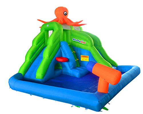 Bounceland Octopus Land 13ft Bouncy Castle Inflatable Water Slide with Fan