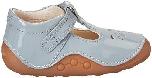 Clarks Little Weave, Chaussures Quatre Pattes (1-10 Mois) Bébé Fille Gris (Grey Patent)