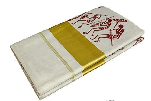 kerala traditional kasavu TISSUE MURAL saree,Original 100% pure cotton kerala kasavu TISSUE...