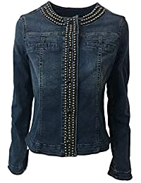 44 Jeans Donna it Amazon Di Abbigliamento Giubbino ASvx1f