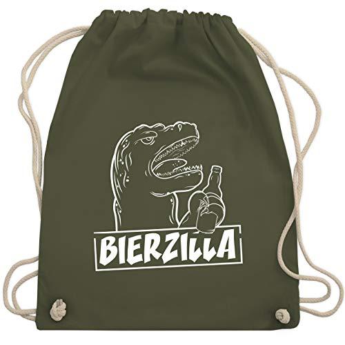 Halloween - Bierzilla - Unisize - Olivgrün - WM110 - Turnbeutel & Gym Bag