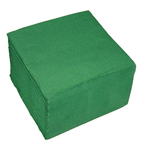 100 Cocktail-Servietten 2-lagig ca. 24x24cm grün (100 Papier Servietten)