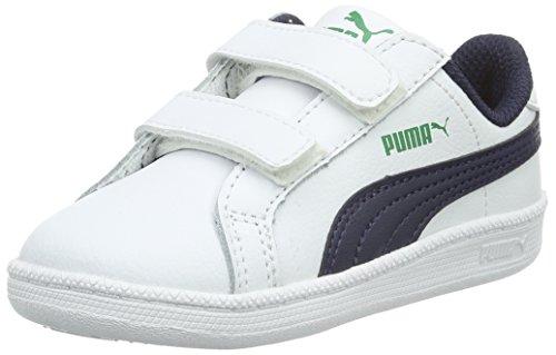 Puma - Smash Fun L V, Sneaker Bambino Bianco (Blanc (White/Peacoat))