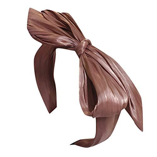 Kostüm Mädchen Koreanisch - HAUXIN❤ Haarreife Haarband Stirnband Satin Vintage Kopf Warp Frauen Mädchen Kostüm Lieferungen Knoten koreanisches und verknotetes Haarband im Retro Style für Damen Breites Haarband Band Stirnbänder
