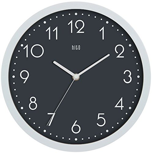 hitotm-modern-colorful-silent-non-ticking-wall-clock-10-inches-gray3
