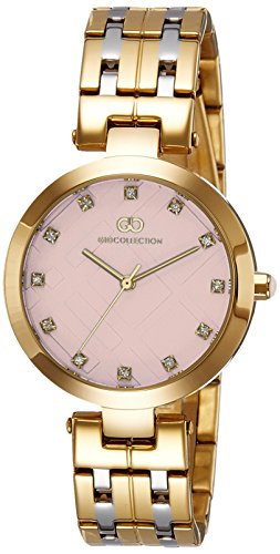 Gio Collection Analog Pink Dial Women's Watch-G2018-66 image