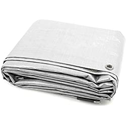 JAROLIFT Lona de cobertura - Lona protectora 2 x 3 m - Polietileno 90 gr / m2 - blanco