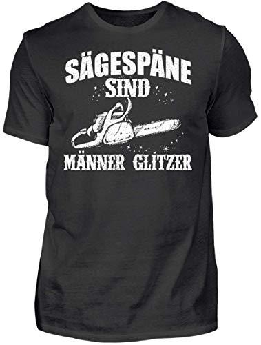 HOLZBRÜDER® Holz T-Shirt Sägespäne sind Männerglitzer - Wald - Kettensäge - Fichten (M)