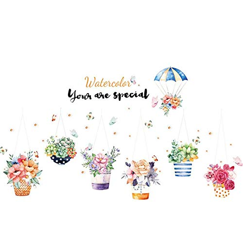 Wallpapers Potted Wall Sticker Bedroom Wallpaper Decoration Self-Stick Sticker 60 x 90cm -