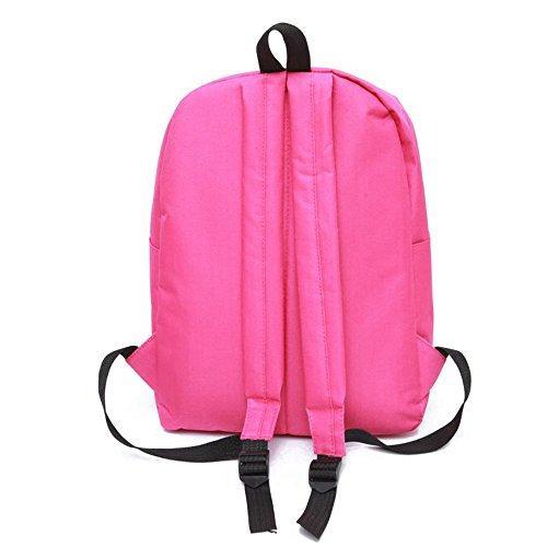 Longra Donne 5 colori zaino moda Borse da viaggio Rosa