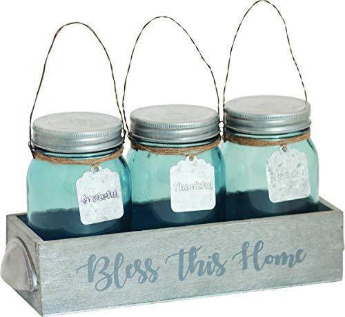 Carpentree Glass Jar Set of 3, Multi Margarita-goblet