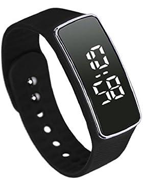 Sannysis Unisex Mode-Silikon-LED Sport-Armband-Touch-Digital-Armbanduhr