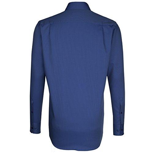 Seidensticker -  Camicia classiche  - Con bottoni  - Maniche lunghe  - Uomo blau (0018)