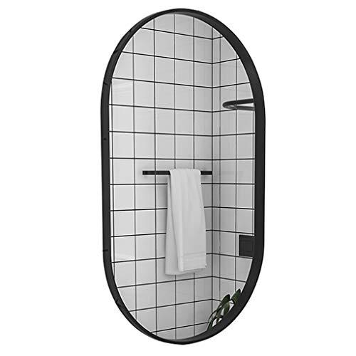 Espejo de baño Ovalado Espejo HD Espejo de Pared de Dormitorio Moderno Afeitado de Maquillaje Vanidad...