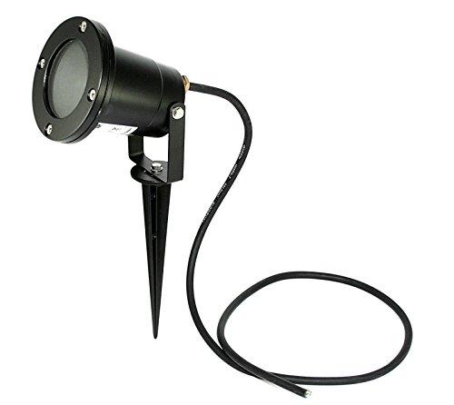 4x Außenstrahler Gartenlampe Pond GU10 230V Schwarz Aufbau mit Erdspieß IP68 geeignet für LED