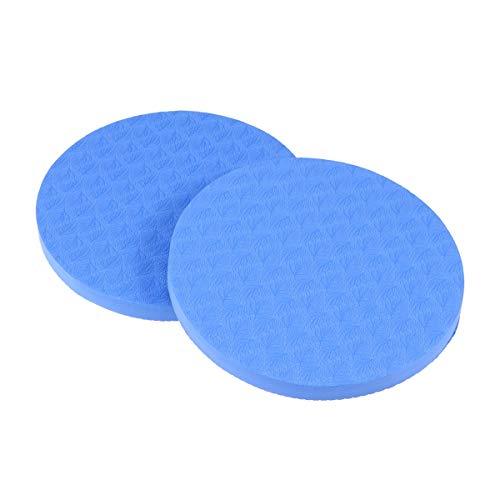 LIOOBO 2 Stück Yoga Ellbogen Pad Dicke runde Eco TPE Yoga Kissen für Knie Ellenbogen Kopf Handgelenk (blau) -