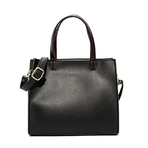Frau Neu Einfach Mode Gut Persönlichkeit Trend Lässig Elegant Handtasche Einzelne Schultertasche Black