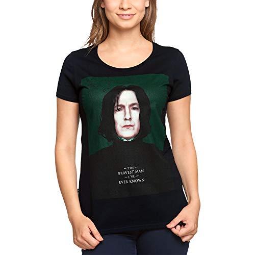 Elbenwald Harry Potter Damen T-Shirt Severus Snape Bravest Baumwolle schwarz - XXXL
