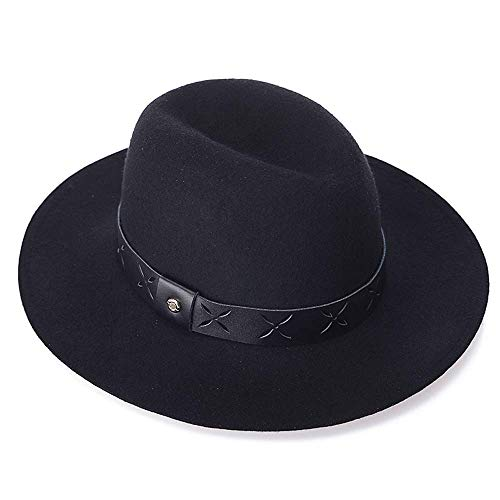 Rolcheleego - Sombrero Mujer Hombre Fedora Lana 100%