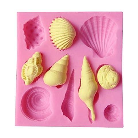Vivin Coquillages Marine Conch Silicone Gâteau Fondant biscuits au chocolat Bonbons Bakeware Décorer Faire Moule couleur dans Aléatoire