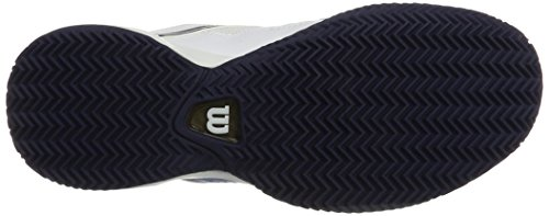 Wilson Tour Vision V Wh/Bl/Ny, Scarpe da Tennis Uomo Bianco (White/methyl Blue/navy)
