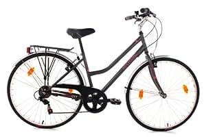 """KS Cycling 28""""Melba RH Vélo pour femme, Femme, Fahrrad Fahrrad Melba Anthrazit RH 43 cm, gris, 28"""