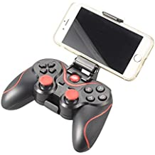 XCSOURCE® Bluetooth Controlador de juegos inalámbrico, Gamepad Joystick Para Android / PC / PS3 / VR Tablet / Smart TV / TV Box - Negro+Rojo AC430