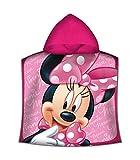 A2Z 4 Kids Poncho Mare Minnie, Bambina Accappatoio Disney Bimba Asciugamano in Spugna 50 x 100 cm