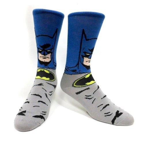 ight Strümpfe / Socken: Batman (Blau/Grau) 39/42 ()