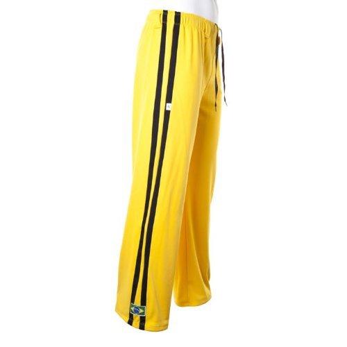 traditionellen Brasilianische Capoeira Hose Unisex Gelb Abada Martial Arts Elastische Pants. (Shorts Gelb-track)