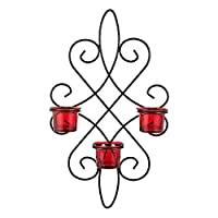 Harmony Glass Candle Holder With Metal Hanger - 3 Piece Set