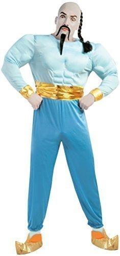 Herren Blau Arabisch Genie Büchertag Film Halloween Kostüm Kleid Outfit Größe L