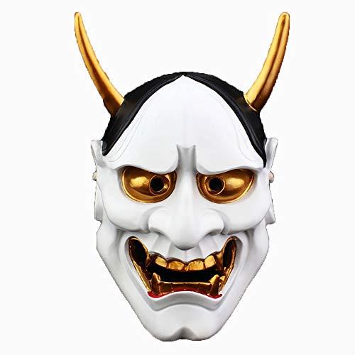 YAJAN-masks Máscara de Halloween Edición de coleccionista Cosplay Fantasma Blanco Academia Mariposa Cabeza Fantasma Horror Resina Máscara Prajna Fiesta de Disfraces
