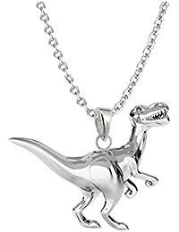 GH1a 3D Dinosaurier ANHÄNGER mit KETTE 925 Echt Silber Dino Geschenkidee 6b2a9ec940