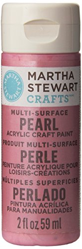 Martha Stewart Crafts Acryl Perle Lackierung in verschiedene Farben (-/Bratenspritze) Mehrfarbig (Taft Perlen)