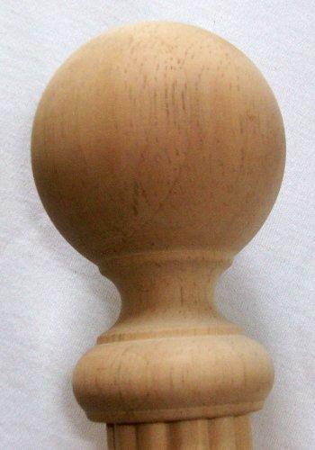 Inachevé Boule Bois Fleuron pour une barre à 1-3/20,3 cm Cheville - 2/Lot [Capitol City Lumber] par kirsch